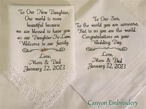 embroidered wedding handkerchiefs wedding gift by With wedding gift for son and daughter in law