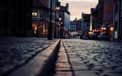 strasse lichter abend hintergrundbilder strasse lichter