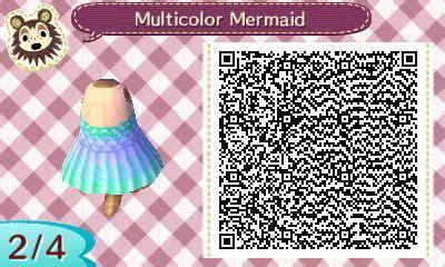 acnl clothing qr mermaid dress animal crossing