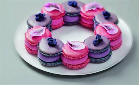 macarons framboise geranium  cassis violette