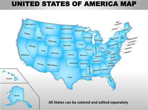usa country editable powerpoint maps  states  counties