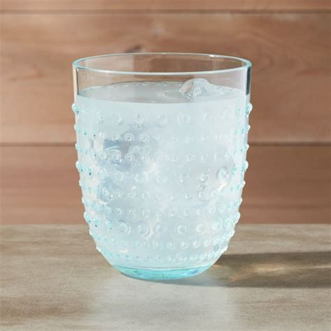 Dottie Aqua Hobnail Drinking Glass 17 oz   Reviews   Crate