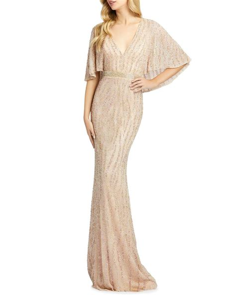 Get the best deal for mac duggal from the largest online selection at ebay.com.au browse our daily deals for even more savings! Mac Duggal Beaded V-Neck Cape-Sleeve Column Gown in 2020 ...
