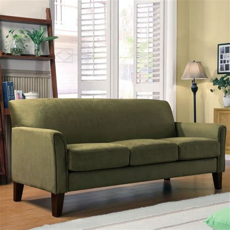 tribecca home uptown sage microfiber suede modern sofa by