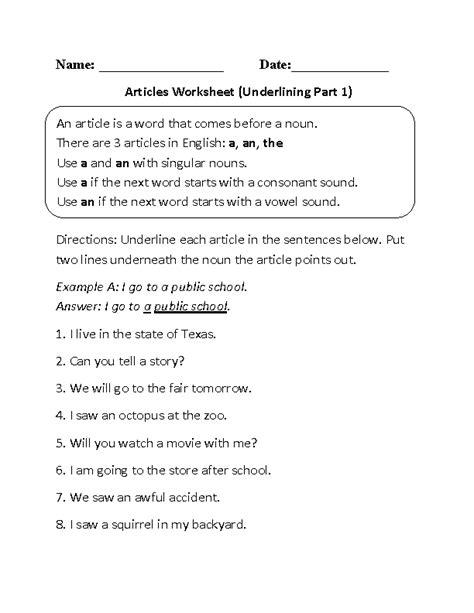 Englishlinxcom  Articles Worksheets