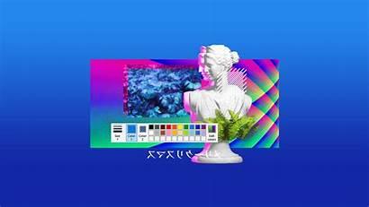 Vaporwave Minimalist Oc Wallpapers Reddit Robot Ze