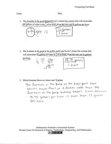 worksheet unit rates worksheet 7th grade grass fedjp