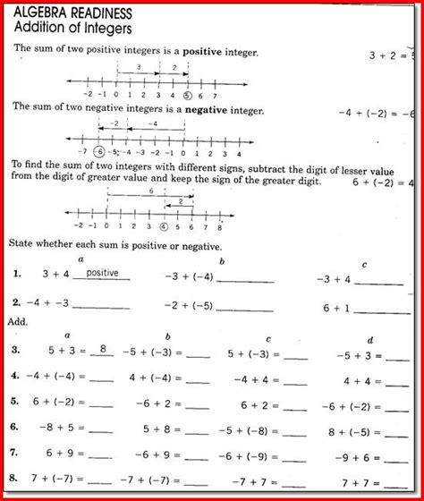 8th Grade Math Worksheets 8th Grade Math Worksheets Free