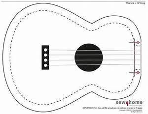 guitar cut out template - posts felt and cards on pinterest