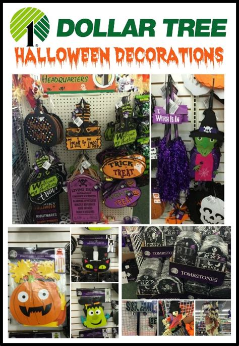 dollar tree halloween decorations