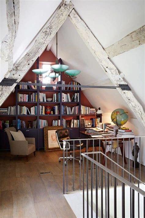 attic library design vintage attic library design