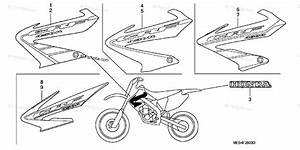 Honda Motorcycle 2005 Oem Parts Diagram For Marks   U0026 39 02