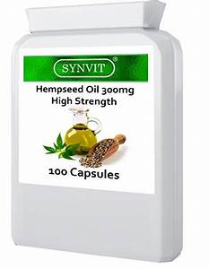 High Strength Hempseed Oil 300mg 100 Capsules Omega 3 6 Sativa Synvit