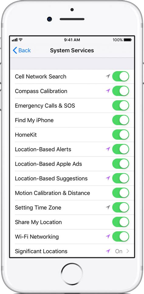 turn location services iphone how to turn location on iphone 7 location history for 18110
