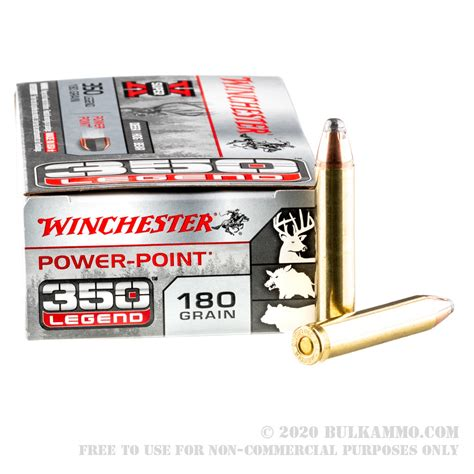 20 Rounds Of Bulk 350 Legend Ammo By Winchester 180gr