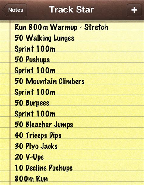 Best Workout Tracks This Was Our Workout At The Franklin Track Last Saturday