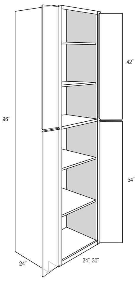 WP2496B: Tall Pantry Cabinet: Amesbury Espresso RTA