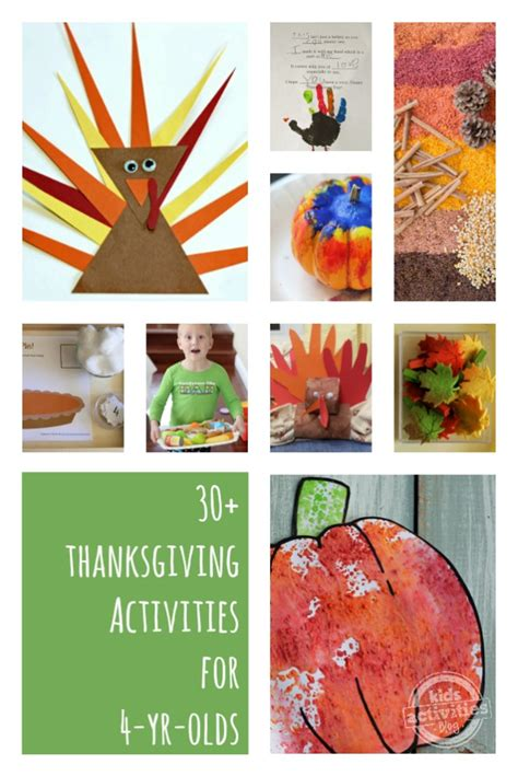 thanksgiving activities   year olds