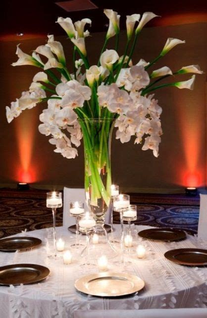 ideas  calla lily centerpieces  pinterest