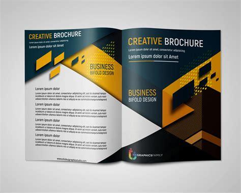 creative bi fold brochure design  business  psd
