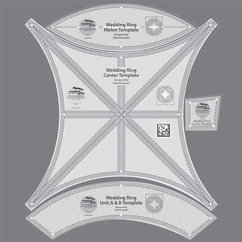 creative grids wedding ring template sewing and creative grids wedding ring template 4 pieces new in package melon ebay