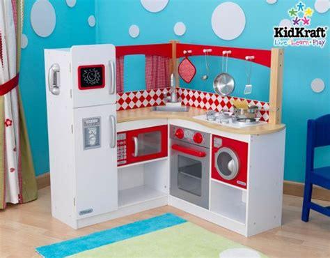 kidkraft corner kitchen wooden play kitchen sets