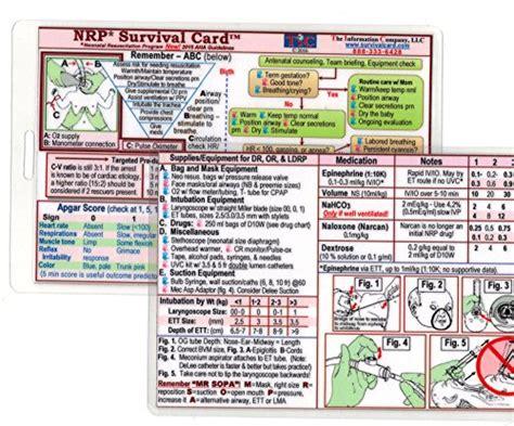 Nrp Neonatal Resuscitation Program Survival Card Quick