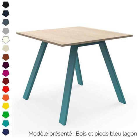 table carree ou rectangulaire table haute rectangulaire ou carr 233 e en bois et acier personnalisable