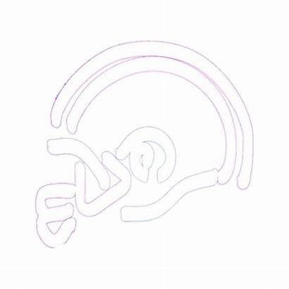 Sports Neon Neonetics Helmet Football Sign