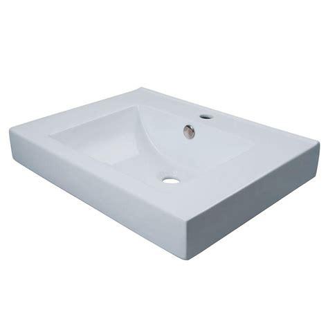 home depot wall mount sink kingston brass wall mount or countertop bathroom sink in