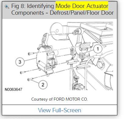 driver side blend door actuator replacement  ac