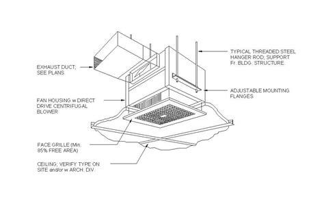 Kitchen Exhaust Revit by Ceiling Exhaust Fan Cad Block Cadblocksfree Cad Blocks Free