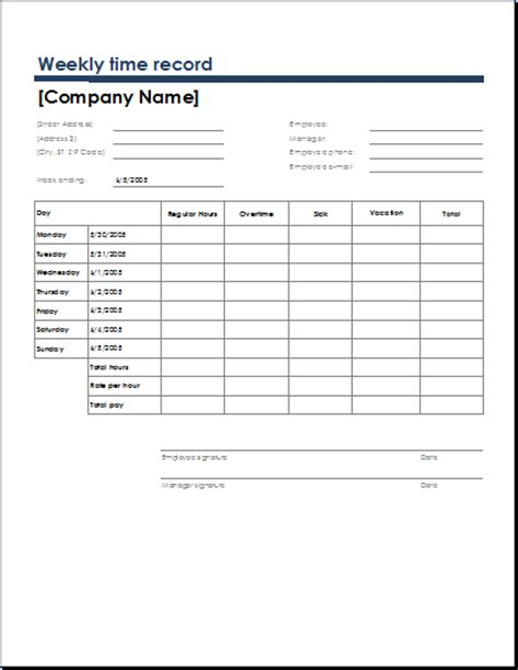 Time Recording Template by Ms Excel Official Time Sheet Templates Formal Word Templates