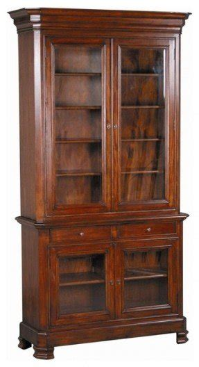 Bookcases With Cabinets by Bookcase With Glass Doors Foter