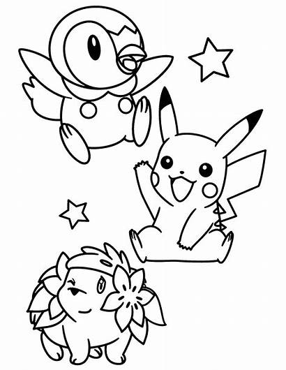 Pokemon Pearl Coloring Kleurplaten Diamond Colorear Ausmalbilder