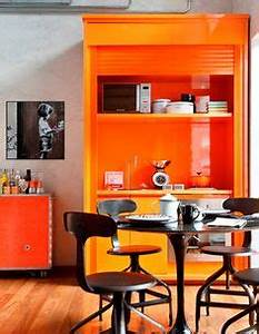 1000 images about orange themed kitchen inspiration on With best brand of paint for kitchen cabinets with heart shaped stickers