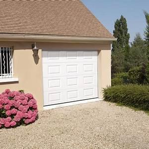 porte de garage sectionnelle motorisee en acier h 200 cm With bip porte garage