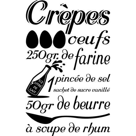 cuisine du bonheur fr stickers recette cr 234 pes pas cher