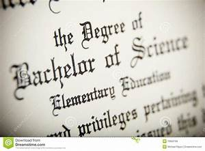 A Macro Of A Bachelor Of Science Degree Stock Image ...