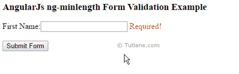 angularjs ng minlength ng maxlength for form validation