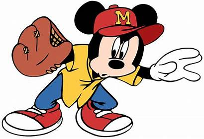 Baseball Clipart Disney Clip Mickey Mouse Playing
