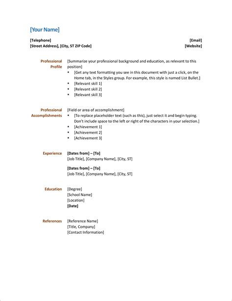 Indian Simple Resume Format Download In Ms Word - BEST RESUME EXAMPLES