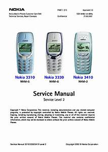 Nokia 3310 3330 3410 Nhm256 Sm Service Manual Download  Schematics  Eeprom  Repair Info For