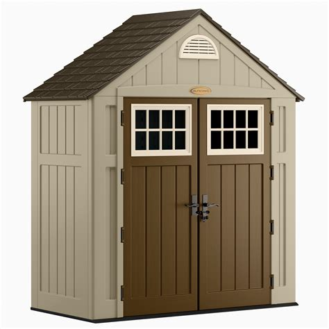 suncast outdoor storage shed suncast alpine 7 5 ft x 3 5 ft resin storage shed lawn