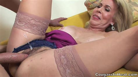 Horny Mom With Stockings Fucked In Her Hairy Pussy Free