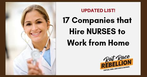 This and other rn jobs brought to you by nursingjobcafe.com client in sc seeking telemetry registered nurse (rn) to work night (12 hours) 19. Work from Home Jobs for Nurses - 17 Companies that Hire | Nursing jobs, Work from home jobs, Job