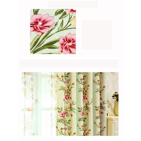Sage Green Floral Print Polyester Beautiful Shabby Chic