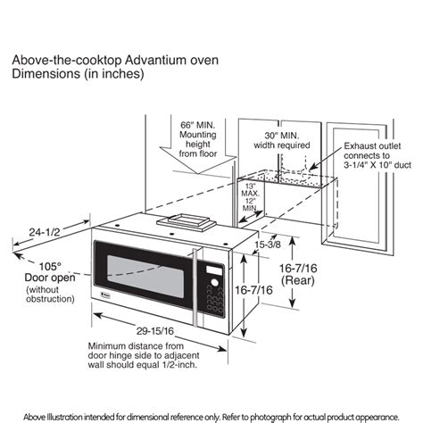 cabinet depth microwave oven 30 inch wall oven cabinet size