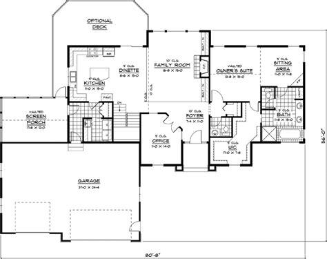Uxbridge Luxury Ranch Home Plan 091d-0407