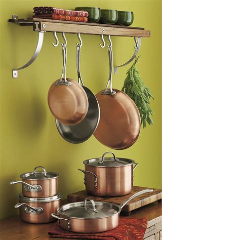 crate  barrel cookware set copper pots kitchen cookware sets